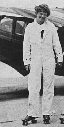 1 Amelia Earhart on skates