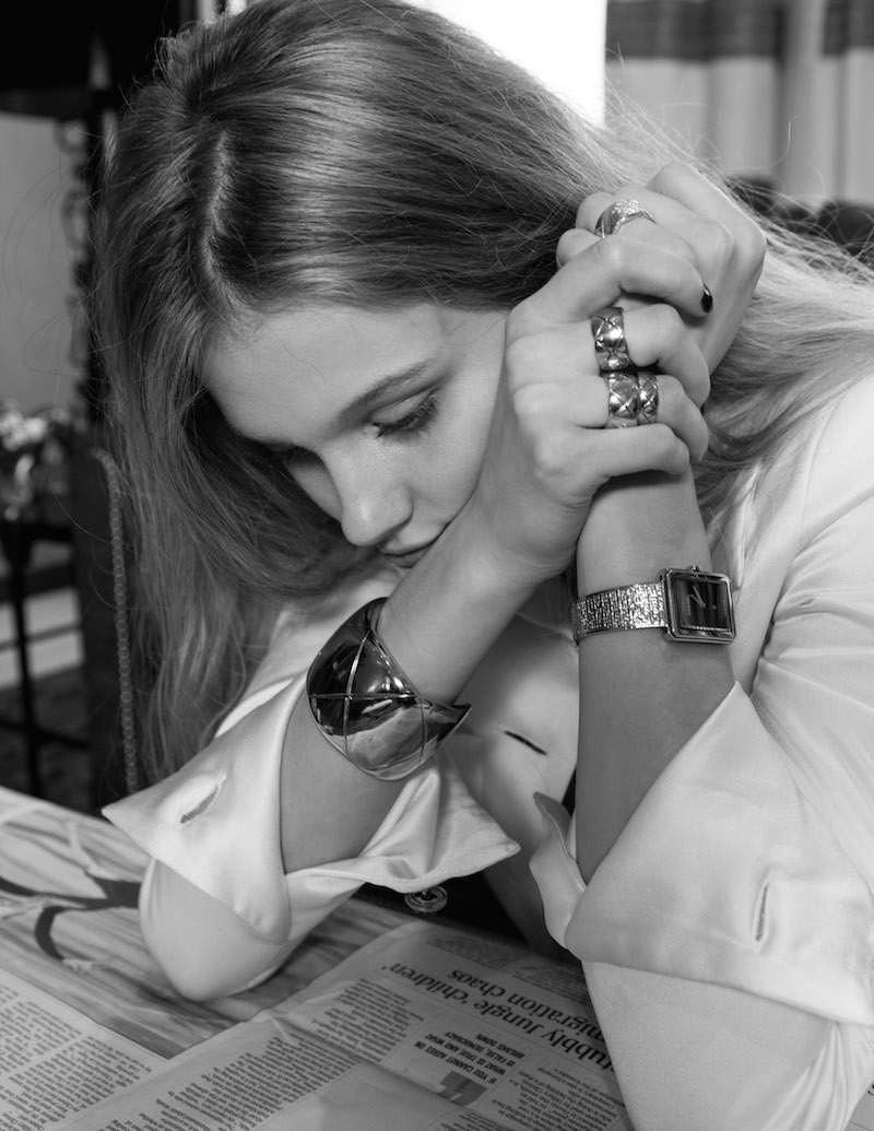 Chanel Boy Friend Tweed watch and Coco Crush rings