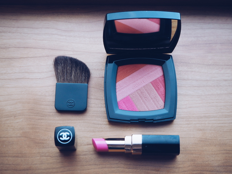 Chanel Spring beauty 2016 Sunkiss Ribbon powder blush and lipstick in Mighty