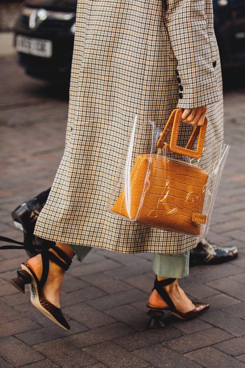 Jonathan Daniel Price photographs Vogue London Fashion Week street style see-through bags