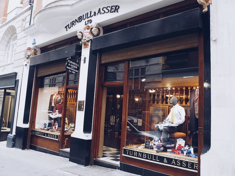 Turnbull and Asser Bespoke store Bury Street in London