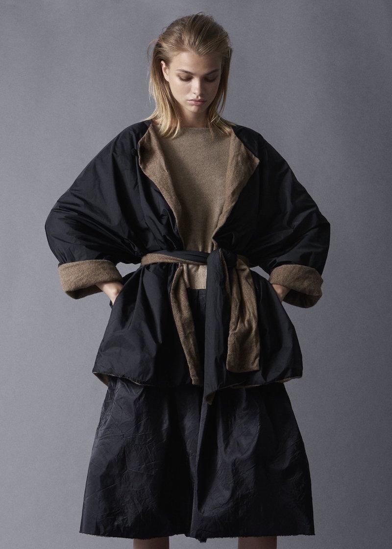 Daniela Dregis reversible cashmere nylon jacket Tiina The Store