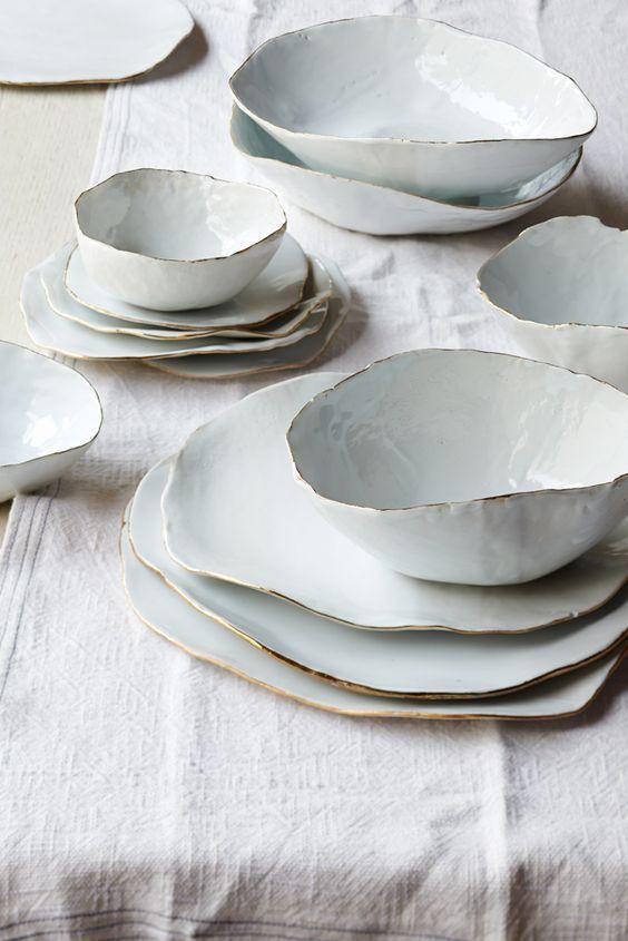 wabi-sabi ceramics - Molosco Dinner Set by Laura Letinsky