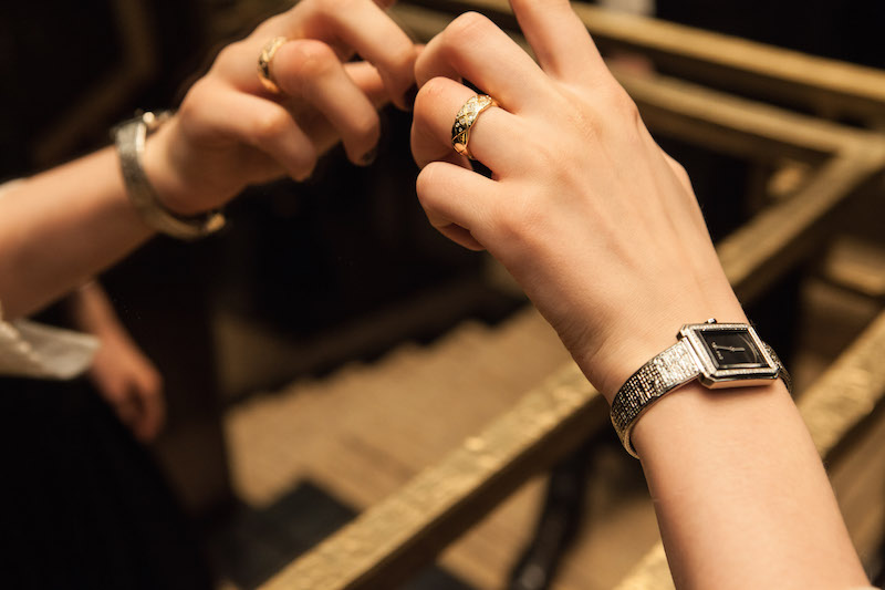 Chanel Boy Friend Tweed watch and Coco Crush ring