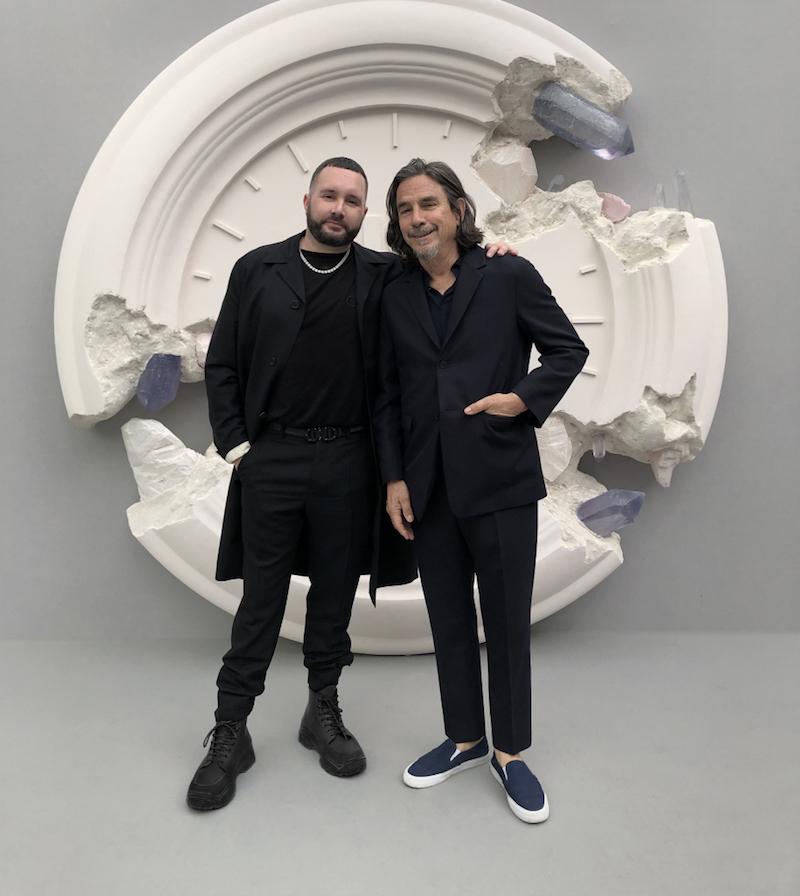 Kim Jones with Shawn Stussy at Dior pre-fall 2020