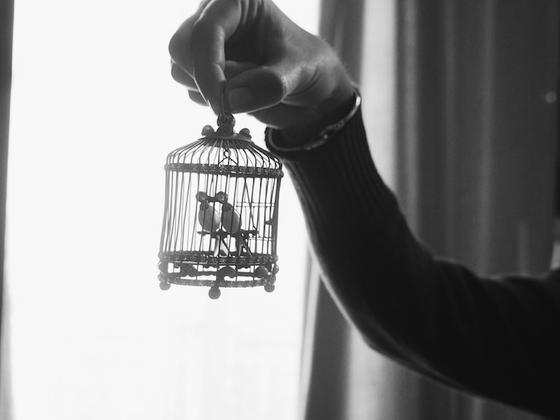 Bird in a cage at Coco Chanel private apartment