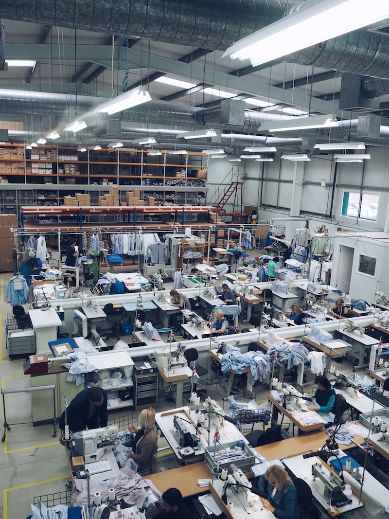 Turnbull and Asser bespoke shirt factory Quedgeley Gloucester
