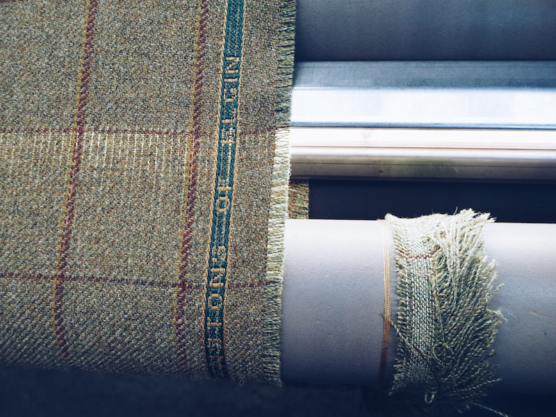 Weaving in action at Johnstons of Elgin