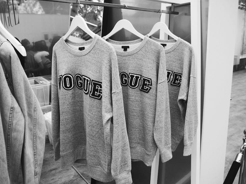 Vogue Festival J Crew sweatshirt