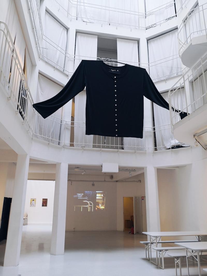 Agnes b snap cardigan exhibition