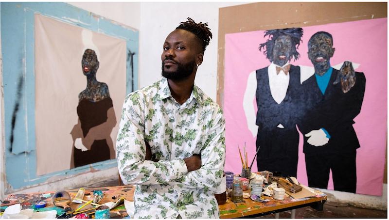 Dior SS21 men - artist Amoako Boafo