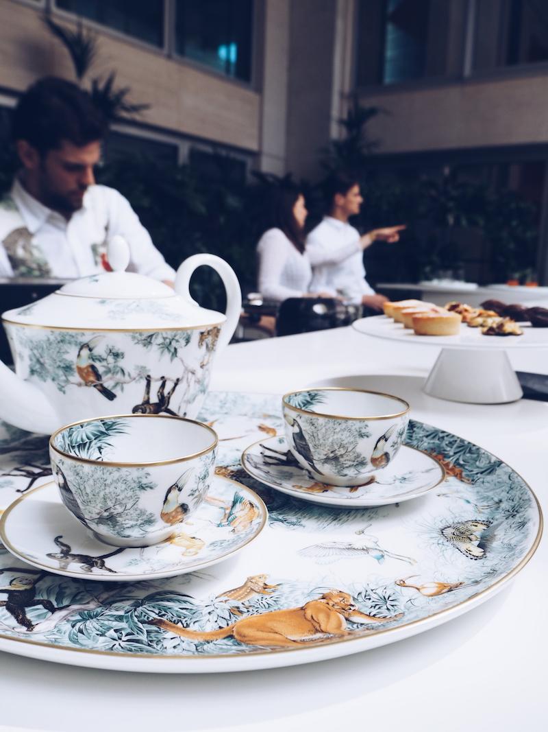 1 Hermes Bond street terrace and Carnets d'Equateur tableware