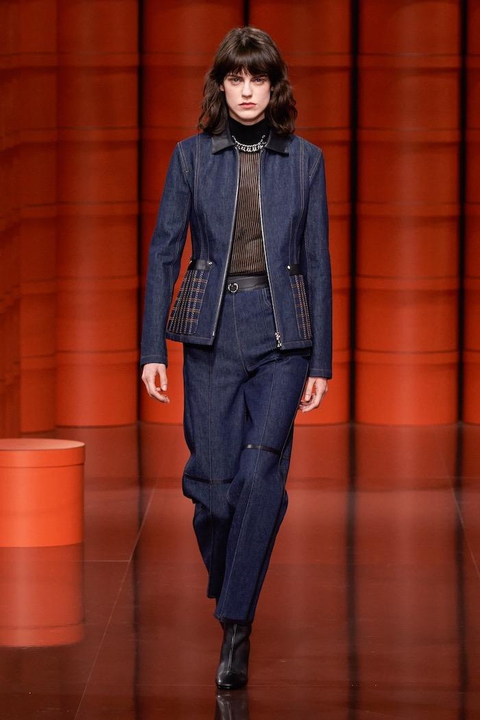 Hermes aw21 womenswear denim