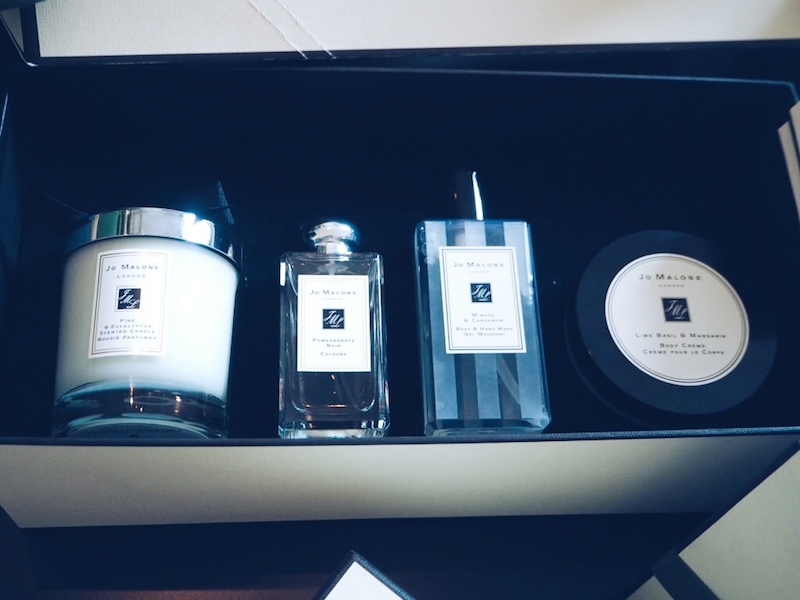 Jo Malone giant Christmas Cracker contents