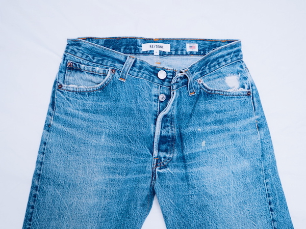 ReDone jeans vintage Levi's modified with a contemporary fit