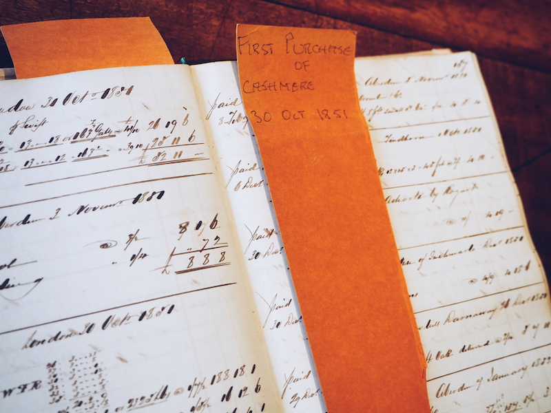 Johnstons of Elgin archive ledgers and sample books