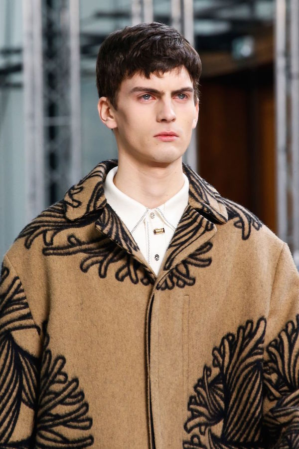 Louis Vuitton menswear aw15 tribute to Christopher Nemeth. Image via Style.com