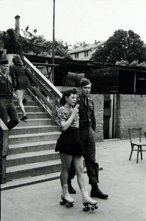 23 Tony Vaccaro a G.I. and a Fraulein, Frankfurt 1946