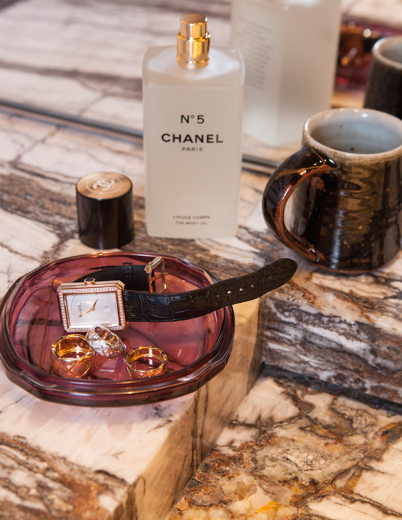 Chanel Boy.Friend Steel watch with alligator strap set with 62 brilliant-cut diamonds and Coco Crush rings