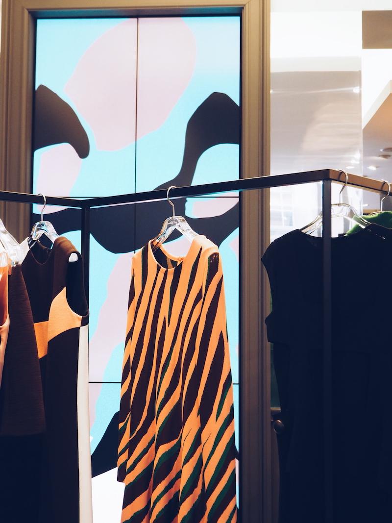 Dior Mount street pop up shop with digital screens by Mats gustafson