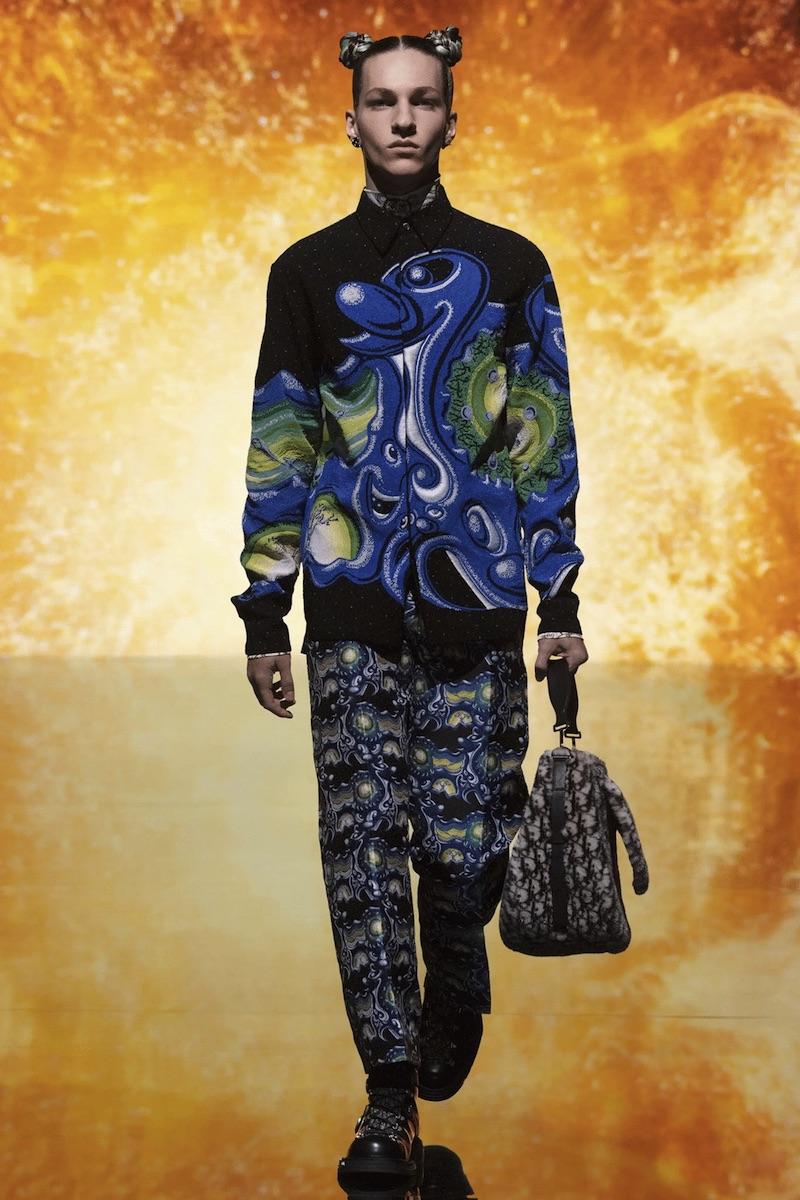 Dior X Kenny Scharf menswear AW21