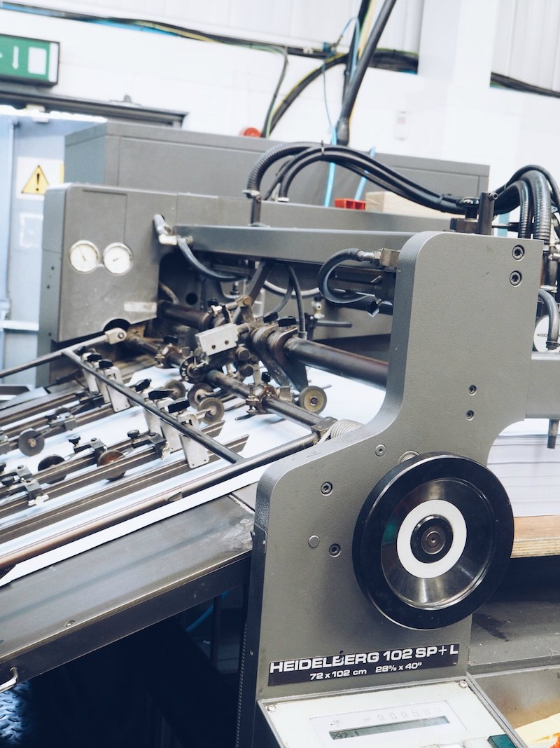 Smythson bookbinding workshops printing a Smythson diary