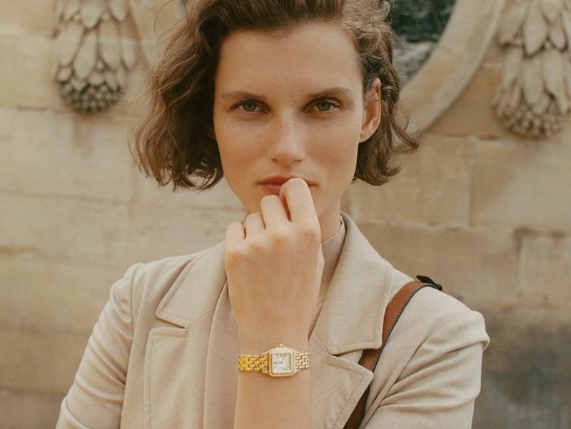 Cartier watch at Netaporter