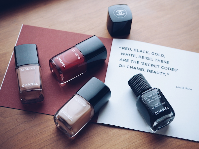 Chanel Coco Codes nail colours