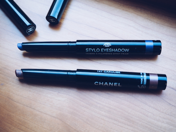 Chanel Collection Mediterranee stylo eyeshadow in Campanule and Caroube