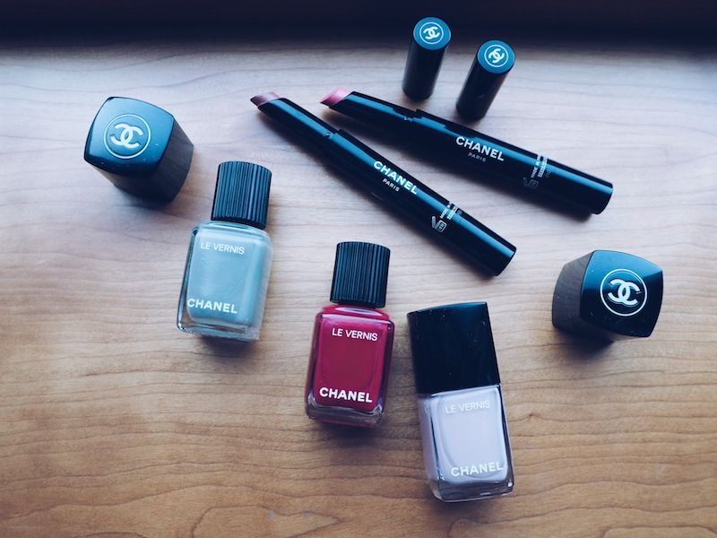 Chanel Rouge Coco Stylo lipstick and Chanel Le Vernis new formula nail colour