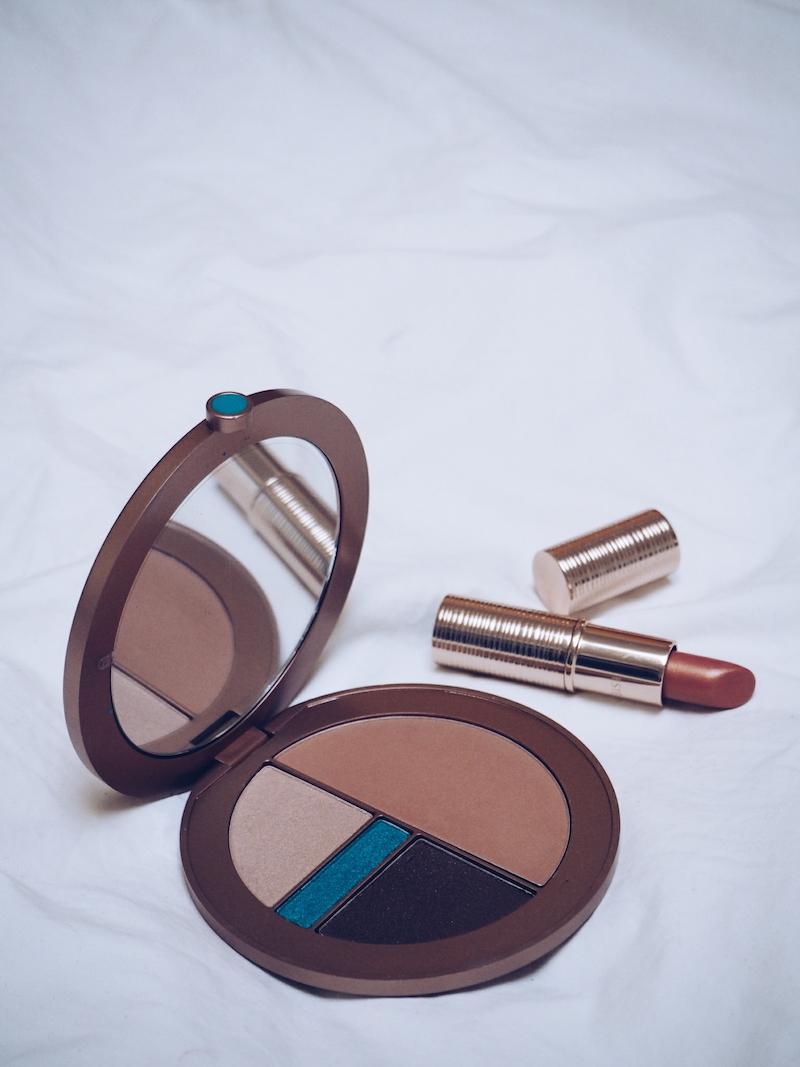 Estee Lauder Bronze Goddess Summer Look Palette and Lip Glow lipstick SunBlush 2017