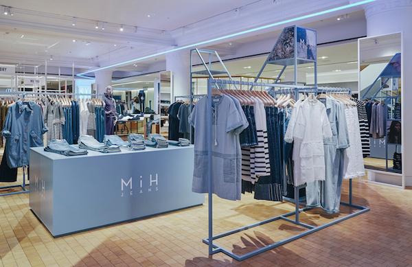 MIH Jeans Selfridges pop-up store