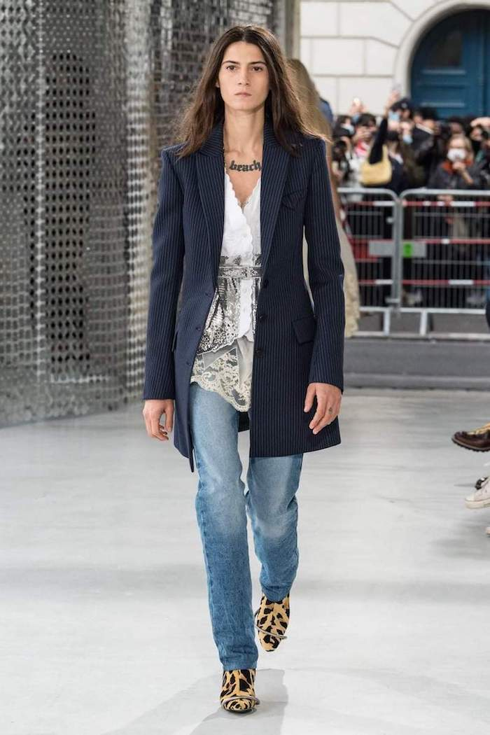 Paco Rabanne SS21 blazer and jeans