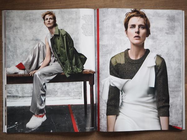 Vogue July 2015 Stella Tennant by Craig McDean