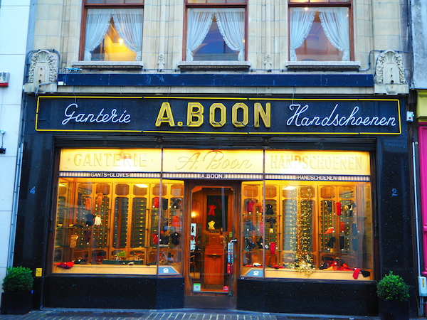 Ganterie Boon traditional glove shop in Antwerp