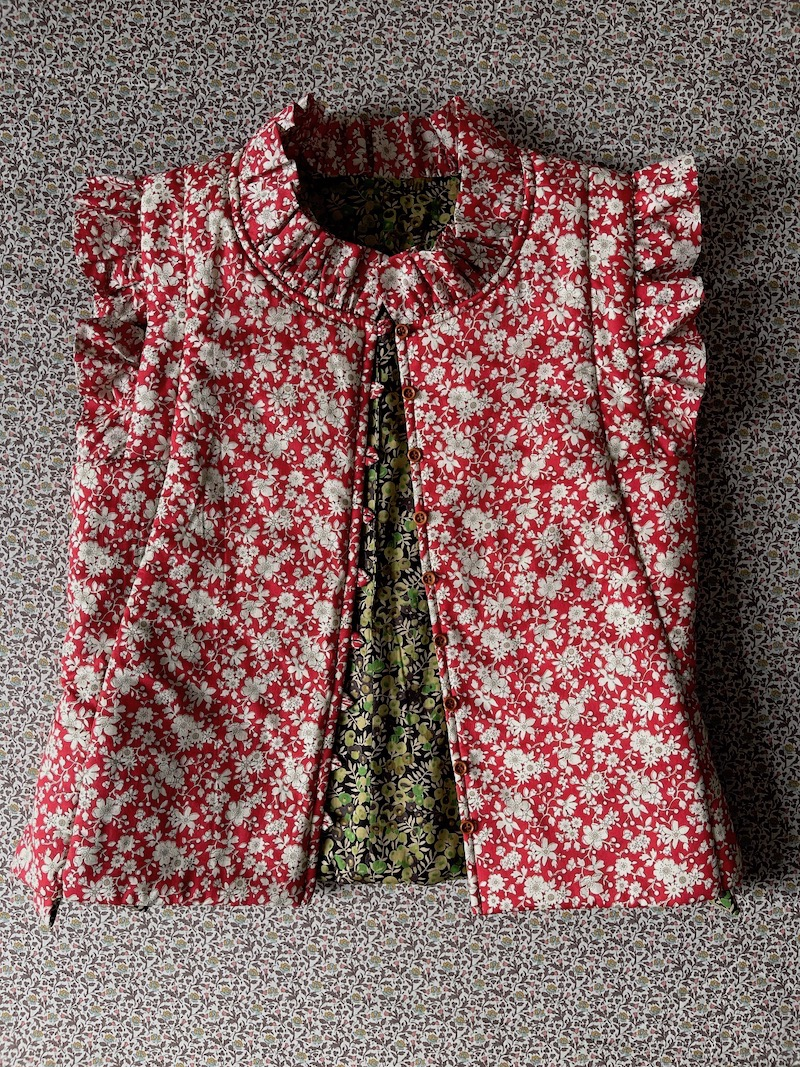 Homebrunn Liberty-print waistcoat