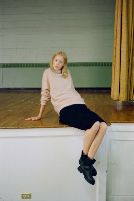 La Garconne aw16 Acne Studios mohair sweater