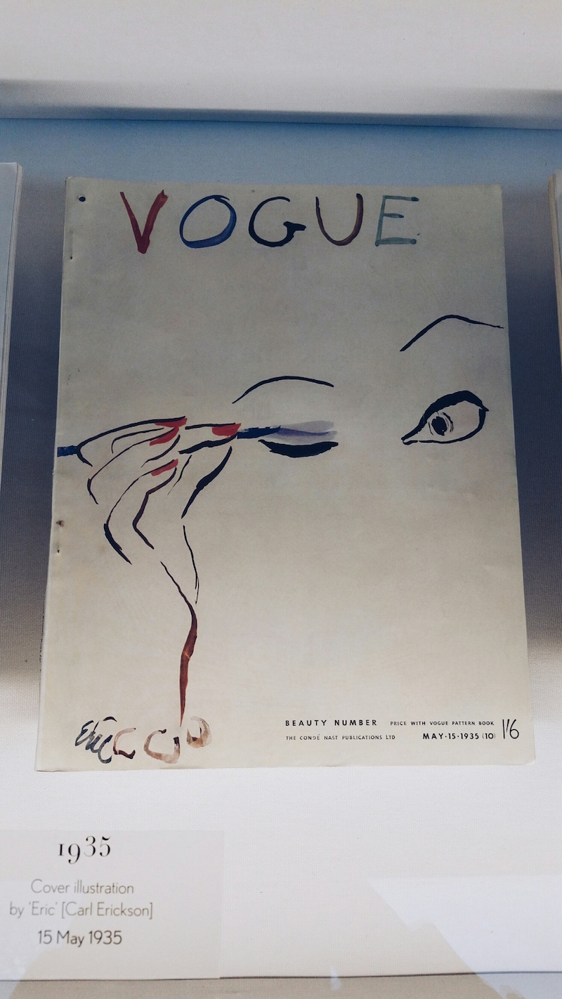 Carl Erockson cover at the Vogue 100 exhibition
