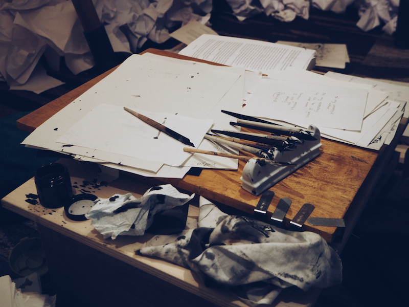 Burberry Makers House The New Craftsmen calligraphy