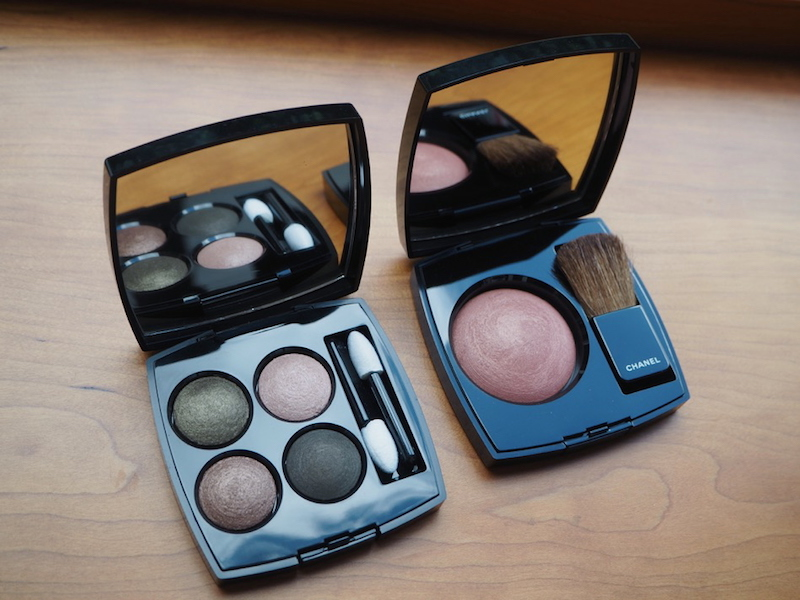 Chanel aw15 makeup Les 4 Ombres in 254 Tisse dAutomne and Joues Contraste in 260 Alezane