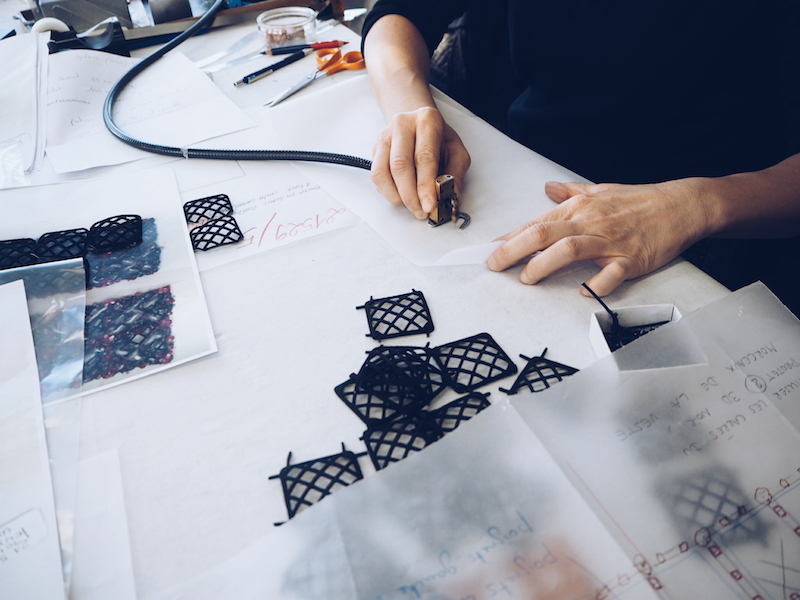 inside Lesage couture embroidery studio with Chanel