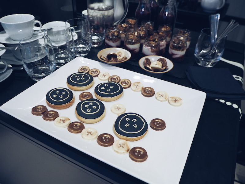 Button Shaped biscuits at the Judy Blame X Jo Malone breakfast