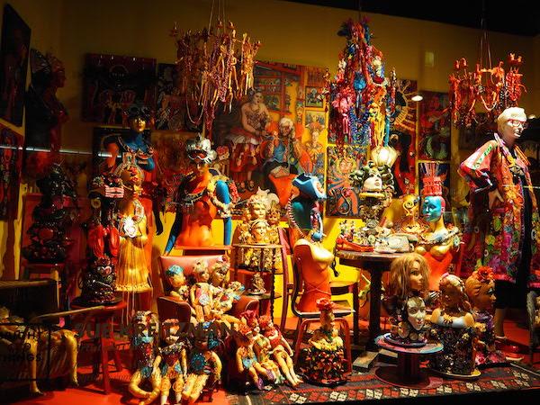 Sue Kreitzman's bejewelled dolls installation
