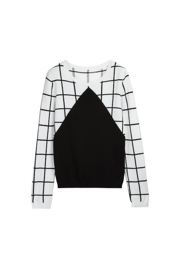 7 Square Intarsia Sweater.£420