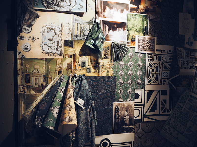 Burberry Makers house mood board wall