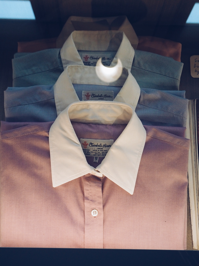 House Style Chatsworth House exhibition featuring Debo the Duchess of Devonshire's Turnbull and Asser shirts