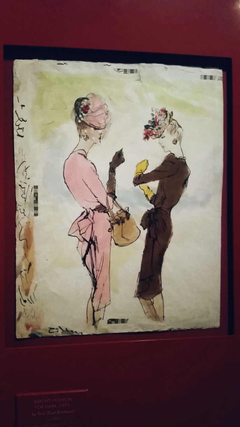 Illustration by Carl Erickson at the Vogue 100 exhibition