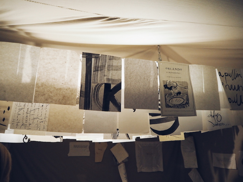 Burberry Makers House calligraphy tent