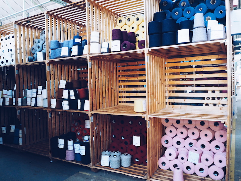 The yarn store at Johnstons of Elgin