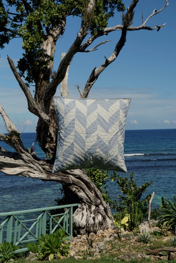 A.P.C. quilts and cushions by Jessica Ogden